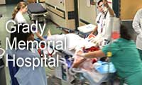 Graphic link to the Grady Memorial Hospital website.