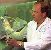Dr. Collin Weber in the lab