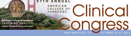 ACS 97th Clinical Congress banner