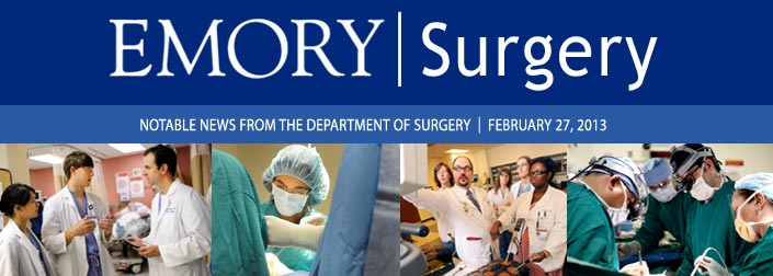 February 2013 Emory Surgery newsletter
