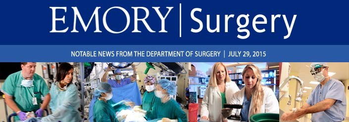 Emory Surgery Newsletter | July 2015