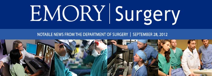 September 2012 Emory Surgery newsletter