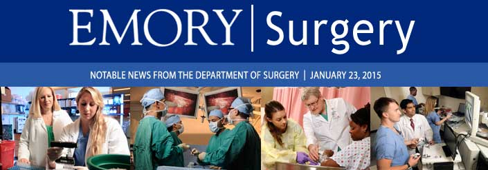 January 2015 Emory Surgery newsletter