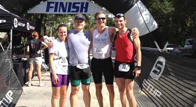 Kiawah triatholon Emory team
