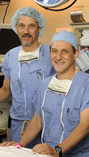 Drs. Pearson and Larsen in the OR