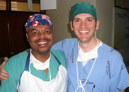 Dr. Love at Soddo Hospital with Dr. Tewodros Tamiru, a graduate of Soddo's PAACS residency.