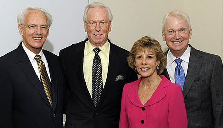 Dr. Douglas Murray, Dr. Wood, Dr. Theresa Gillespie, and Dr. Grant Carlson at the Winship Cancer Institute Seminar honoring Dr. Wood, 8/20/11